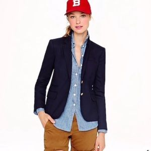 J. Crew blazer schoolboy jacket wool Career size 4